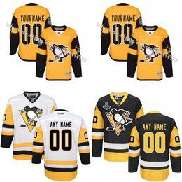 2017 Stade de la série Customized Hommes Pittsburgh Penguins custom Tout Nom N'importe quel numéro Hockey sur glace Maillot brodé taille S-3XL hockey series on sale à partir de série de hockey fournisseurs