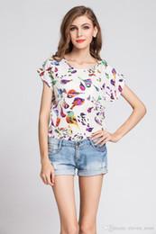 Promotion imprimé floral t-shirts femmes T shirt 20 couleurs Femme Impression Cinq Etoiles T-shirt en mousseline de soie à manches courtes col rond Casual Blanc T-shirt Femme de la T-shirt # 3546