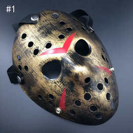 Vêtements de tueurs à vendre-Le nouveau Jason VS vendredi treizième hockey terroriste Vêtements de cosplay Masque de Halloween Masquerade Mask horreur, masque de masquage Jason thickenin