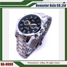 Hot vendiendo la cámara de acero del reloj del espía de la venda la ayuda 1920 * 1080 MAX 32GB con la función de la visión nocturna del IR desde cámara espía venta caliente proveedores