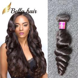 100% Real Peruvian Hair 3pcs lot Wavy Loose Wave Human Hair Weave Popular Natural Black Color Hair Weft