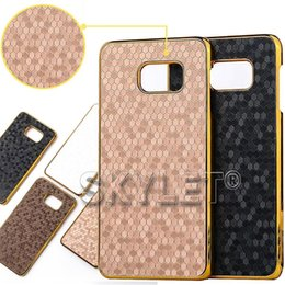 Wholesale 2016 For Samsung S7 case For iphone s Football Lines Back cover Case Note gold frame Case Opp Package