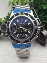 Wholesale best seller fashion brand new watches men superocean ii herie watch black dial watch quartz chronograph watch mens dress wristwatches