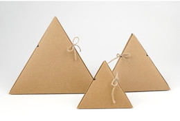 Wholesale Wedding supplies triangle kraft paper gift box New food grade leather packing cases Pyramid Creative Candy Hard Cardboard Box