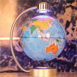 Promotion flotteurs électroniques Cadeau d'affaires d'anniversaire Cool Cool 8 pouces NewCreative électronique levitation magnétique flottant Globe World Map Lights