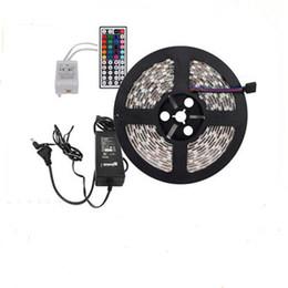 Christmas Lights Non-Waterproof RGB LED Strip Light 16.4 feet 150 LEDs 5050 SMD 5m LED Strip Light+44-key Remote Controller+5A Power Supply