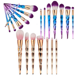 Pinceaux 7pcs / set Unicorn Thread Kits de maquillage Pinceaux Ensemble de brosse à fibre professionnelle Outils de maquillage Cosmétique brosses arc-en-ciel DHL gratuite à partir de brosses 7pcs fabricateur
