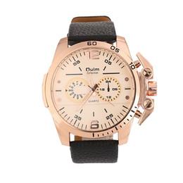 Fashion Decorative Sub-dial Hollow-out Pointer Quartz Watch for Men