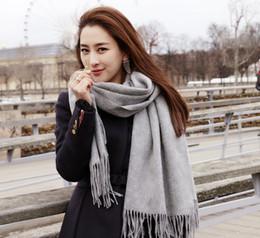 Descuento bufanda para el frío Útiles Mujer Big tamaño bufanda manta 180 * 70 cm de espesor de cachemira fría invierno uso cálido mullidas mantas mantas bufandas sólidas bufandas
