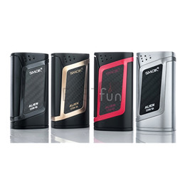 Wholesale 100 Original Smok Alien TC Box Mod W Big Out Put Alien Mod Temperature Control Output Extra Large OLED Screen VS H Priv Mini Vapor Mod