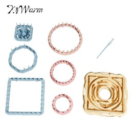 Wholesale Portable Size Knitting Loom Daisy Flower Pattern Maker Wool Yarn Needle Knit Hobby Tool Kits Craft Instruction