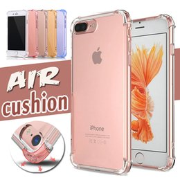 Air Cushion Case Ultra Slim Thin Crystal Anti-Scratch Drop Protection Transparent Clear Soft TPU Silicone Cover For 7 Plus 6 6s SE 5s 5