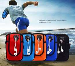 Wholesale Impermeable universal teléfono móvil bolsa de deporte banda caso para iphone plus s Samsung Galaxy S7 S6 LG
