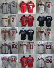 Wholesale Atlanta Braves Dansby Swanson Dale Murphy Chipper Jones Ender Inciarte David Justice Deion Sanders Stitched Jerseys
