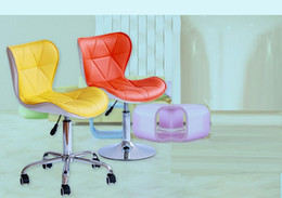 Wholesale coffee house stool blue black color bar chair American style living room lifting chair retail