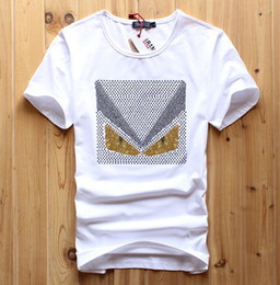 New Top Casual Short O-neck Print No Knitted Sale Men Diamond Design T Shirt Luxury Brand Pute Cotton Tops Tees 2017