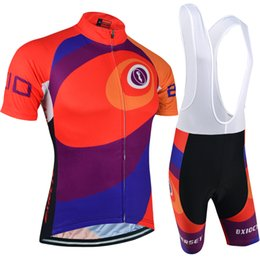 BXIO Brand Cycling Jerseys Orange Cyclist Bike Clothing Kits Cycle Bikers Road Bike Clothes Suits Short Sleeve Pro Team Jersey BX-026