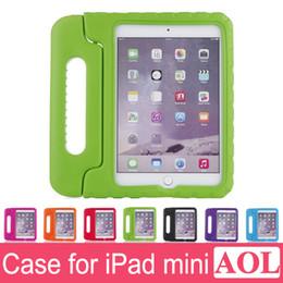 Kids Safe Portable Protection contre les chocs Case Cover Coque pour iPad mini4 mini 1/2/3 EVA Mousse Poignée Stand à partir de enfants ipad poignées de cas fabricateur