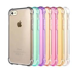 Pour Iphone 7 Case Combo coussin d'air Crystal Cases Hybrid Bumper résistant à la baisse Clear TPU Housse souple pour iPhone 6S 6 7 Plus 5 5s transparent 5s bumper deals à partir de pare-chocs 5s transparent fournisseurs