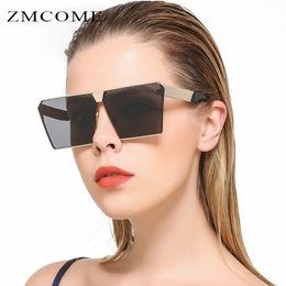 ZMCOME 2017 New Women Sunglasses Unique Oversize Shield UV400 Gradient Retro Eyewear Metal Frame For Female Goggle Oculos