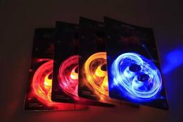 Discothèque clignotant conduit à vendre-58pcs (29pairs) LED lacets chaussures lacets éclairer jusqu'à glow stick sangle lacets disco party patinage sports glow stick ex