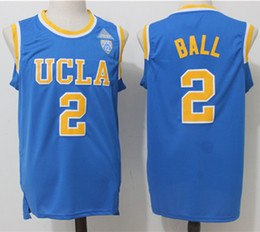 wholesale UCLA College Jerseys #0 Russell Westbrook Jersey #42 Love #2 Lonzo Ball Basketball Jersey All Stitched High quality jersey