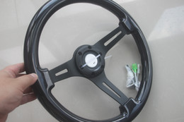 universal 35cm 350mm  14inch Wood Phoebe steering wheel racing car steering wheel three racing Phoebe black color