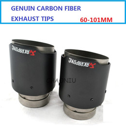Wholesale 60mm Inlet mm Outlet Akrapovic Carbon Fiber Exhaust Tip MufflerEnd Pipes Stainless Steel Car Exhaust Tips