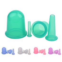 Chinese traditional 4pcs set Health Care Massage Silicone Vacuum Cupping Cups Set