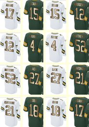Wholesale 2017 Gold Collection Green Bay Men s Starr Rodgers Favre Ha Ha Clinton Dix Randall Cobb Adams Eddie Lacy Matthews
