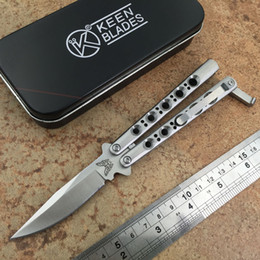 Wholesale 18CM THE ONE BM31 Butterfly Balisong knife C Blade Die cast stainless steel handle with Nylon sheath