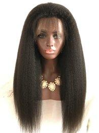 300% density Full Lace Human Hair Wigs Peruvian Hair kinky Straight Lace Front Wigs Human Hair Lace Wigs For Black Women