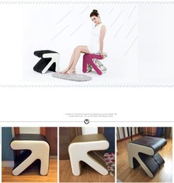 Wholesale household change shoe stool bar PU leather seat Cotton footrest red pink butterfly color stool retail
