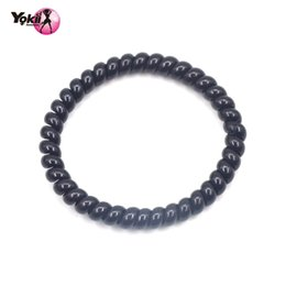 Yokii Fashion classic black Telephone Line Elastic Hair Tie Elastic Hair Band Ponytail Holders Hair Accessories Bracelet