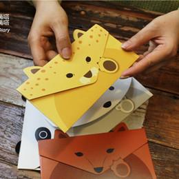 Papelería sobre de papel en venta-Las PC al por mayor-2 / la porción crean el envío libre al por mayor coreano 732 de los efectos de escritorio de la tarjeta de felicitación del sobre de Kraft del papel del estilo