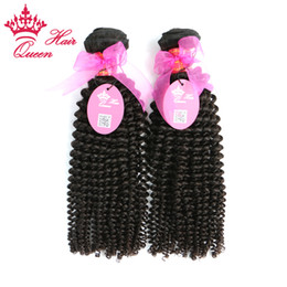 "Queen Hair Mix length 2pcs 12""-28"" DHL Free Shipping Brazilian virgin kinky curly human remy hair weave extensions"