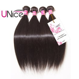 UNice Hair Brazilian Straight Bundles 3 Pieces 100% Human Hair Weaving 8-30inch Unprocessed Natural Color Hair Extension Wholesale Weaves