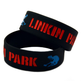 50PCS Lot Rock Band Linkin Park Silicone Wristband 1 Inch Wide Bangle Wear This Bracelet To Support Your Idol