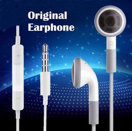 100% Original para stereo Earphone flat heard noise canceling earbuds With Mic and voice control for Apple iPhone6 6s 5 5S 4 4S