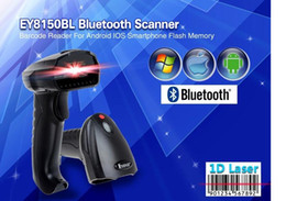 Wholesale EY8150BL New Wireless Bluetooth D Barcode Scanner Mini Barcode Reader for iOS Android Windows System Bar Scanner