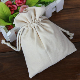Logo Custom Cotton Jewelry Packaging Pouches Hand Made Wedding Favor Holders Gift Bags For Festive Parties