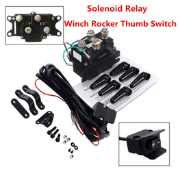 Solenoid Relay Contactor +Winch Rocker Thumb Switch For ATV UTV Polaris 800 1000