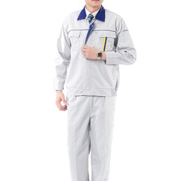 Wholesale Lstest Version Work Uniform Long Sleeve Vehicle Repair Welding Overall Suit Full Size Best Selling Grey Color Cotton