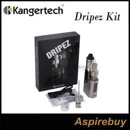 Wholesale Kanger Dripbox EZ Kit Drip EZ RBA Tank and Drip EZ W TC Mod Unique Juice Pump Delivery System Replaceable Bottle Two Post Deck Origin