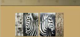 modern abstract Zebra oil painting hand painted black white wall canvas art animals art paintings for living room