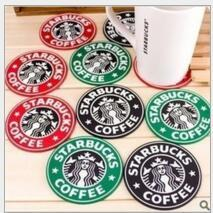 Wholesale Table Decoration Starbucks Logo Mermaid Silicone Coaster Round Platemat Cup Coffee Mug Mat Pad Black Red Green Party Supplies