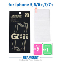 300 pcs Screen Protector for iPhone 6 6s 7 Plus Tempered Glass Protector with retail box with wipes for iPhone 5s