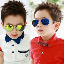 Descuento gafas de diseño fresco 2016 Los vidrios de Sun del diseñador de la marca de fábrica para los niños refrescan el espejo Reflective el marco del metal embroma los vidrios UV400 Sg12 de los niños de las gafas de sol
