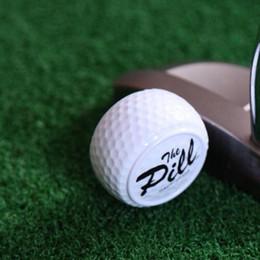 Wholesale 1pc New Design golf pelotasTwo Layer Driving Range Balls Golf allen Balls Flat Shape Practice