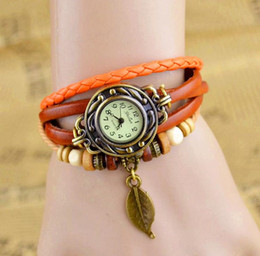 Wholesale New Fashion Explosion Models Retro Hand woven Ladies Watch Bracelet Watch mixed Color JF